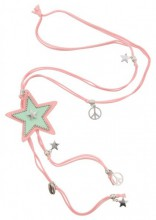 G-C12.1    Necklace Star Pink N009-029 80cm