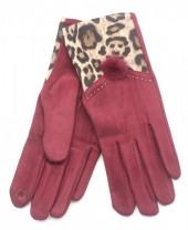 X-I9.1  GLOVE403-003C Gloves with Animal Print RedX-I9.1  GLOVE403-003C Gloves with Animal Print Red