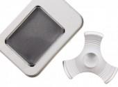 Aluminium Fidge Spinner in Giftbox Silver