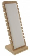 T-F2.1  PK424-014 Jewelry Display Wood with PU 27x10x9.5cm