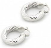A-E20.4  E002-009 Stylish Metal Earrings Silver