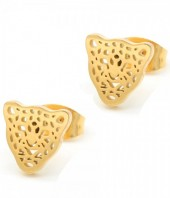 A-A23.1  E1842-010G Stainless Steel Studs Leopard 10mm GoldA-A23.1  E1842-010G Stainless Steel Studs Leopard 10mm Gold
