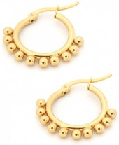 E126-004 Stainless Steel Earrings Drops 15mm Gold