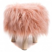 Y-C3.7 ST002-001 Stool with Fake Fur 31x34cm Pink