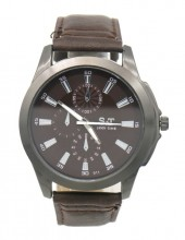 A-C21.2 W523-011D Quartz Watch with PU Strap 45mm Brown