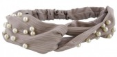 C-B14.3 Headband with Pearls Grey