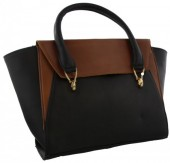 Q-O5.1 BAGE-858 Leather Bag 41x24x12cm Black-Brown