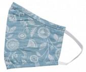 S-I2.1 Face Mask Cotton - Washable - Embroidered - Turqoise